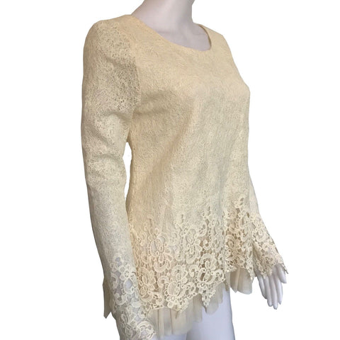 1970s LACE BLOUSE