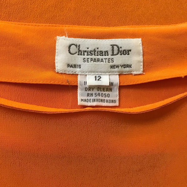 Vintage 1970s Christian Dior Blouse