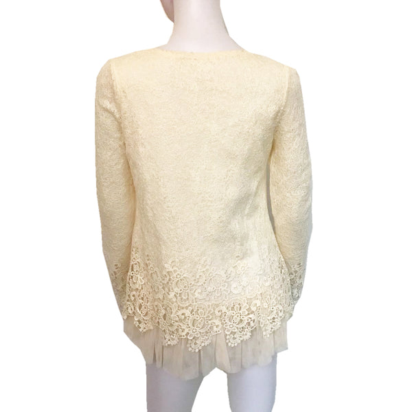 Vintage 1970s Lace Blouse With Crinoline Lining