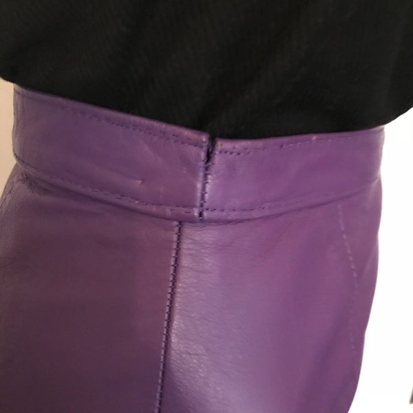 1980s LEATHER SKIRT