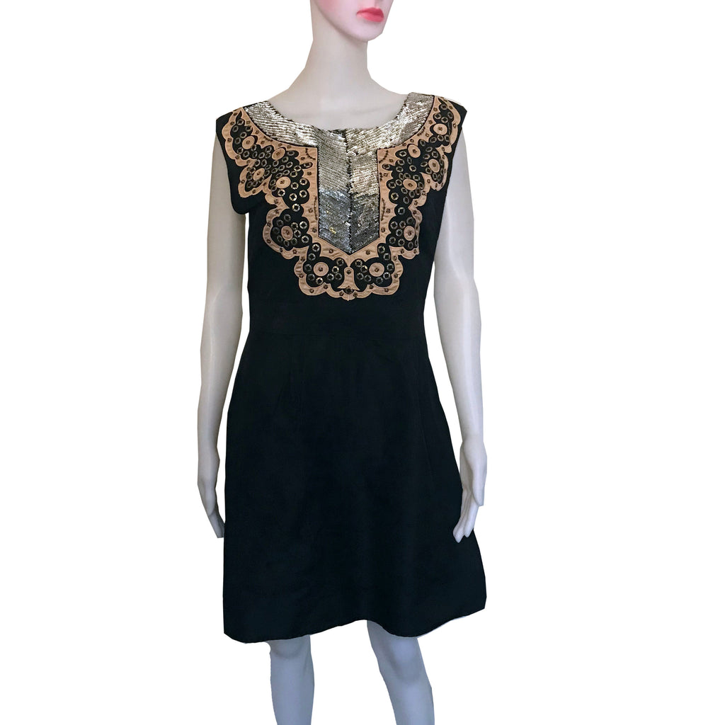 Vintage 1960s Handmade Sequined Sleeveless Dress