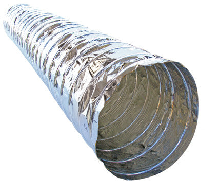 6m x 150mm FLEXIBLE ALUMINIUM VENTILATION DUCTING NUDE $25.30