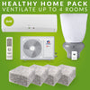 Healthy Home Pack: 3kw Gree Heat pump, ventilation filters, ventilation system