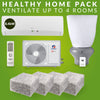 Healthy Home Pack: 8.5kw GREE Heat Pump, R 3.2 Realwool & Supervent 108m² - supercellnz