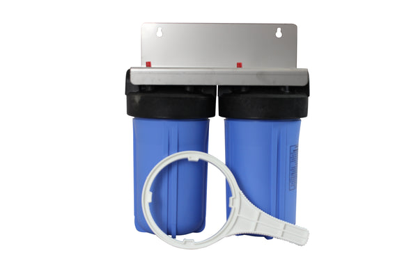 "10"" Jumbo Twin whole house water filter Housing system-Water Filters-supercellnz"