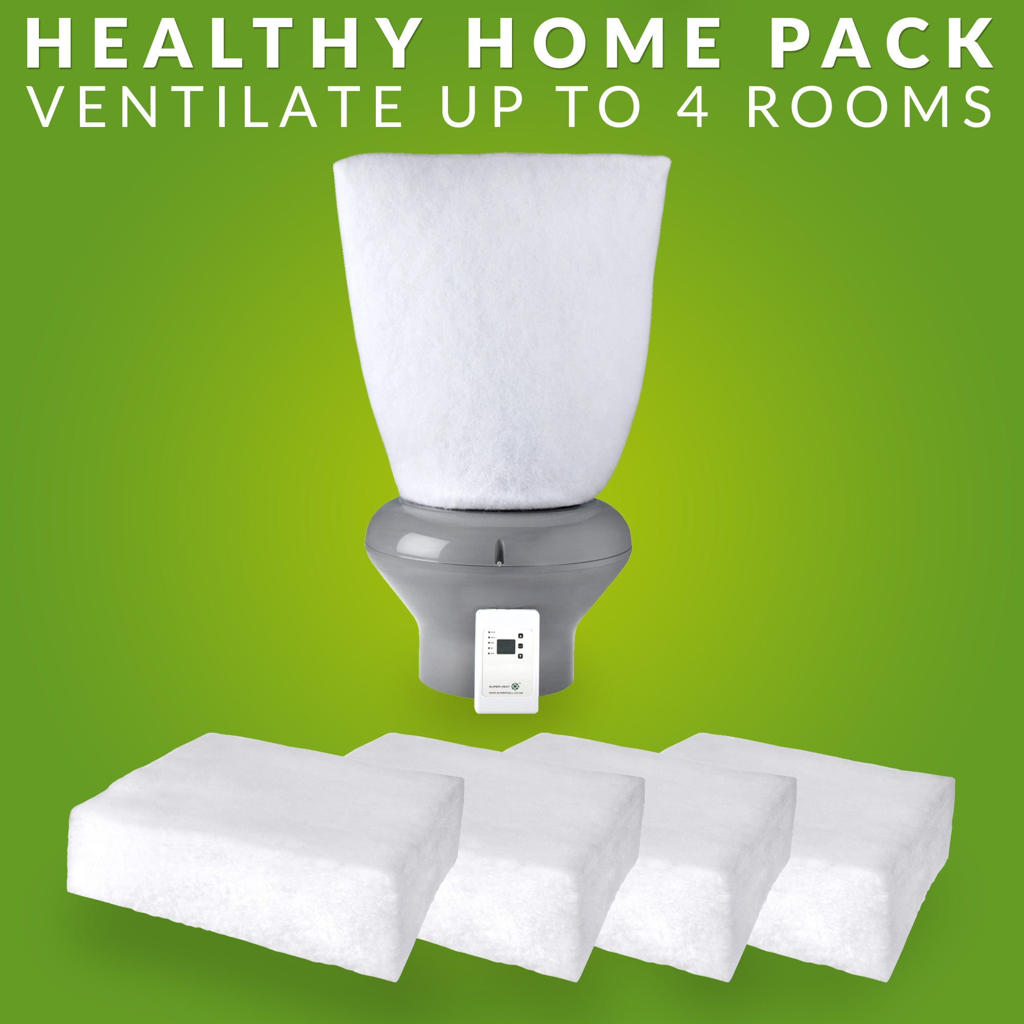 Healthy Home Pack R 2.8 Polyester & Supervent™ 105m² - supercellnz