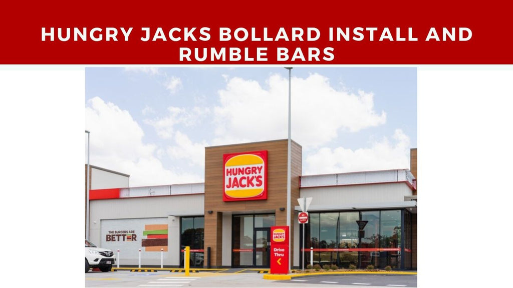hungry jacks bollard install