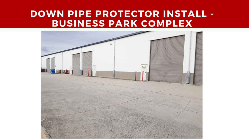Downpipe Protector Guard Install - Business Park Complex