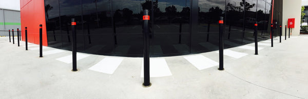 black in ground bollards