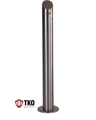 90 OD/MM Mitred Top - Surface Mounted Stainless Steel Bollard - Brisbane bollards