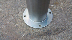 165 OD/MM Dome Top Stainless Steel - Surface Mounted Bollard - Brisbane bollards