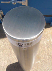 220 OD/MM In-Ground Stainless Steel Bollard - Brisbane bollards