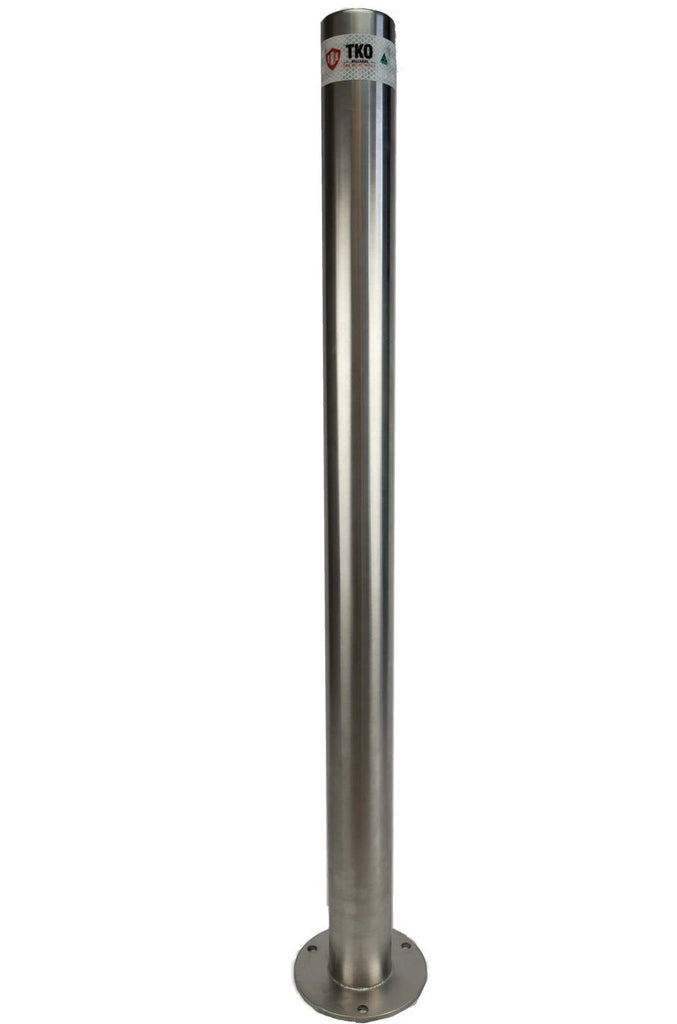 90 OD/MM 1000mm Surface Mounted Stainless Steel Bollard - Brisbane bollards