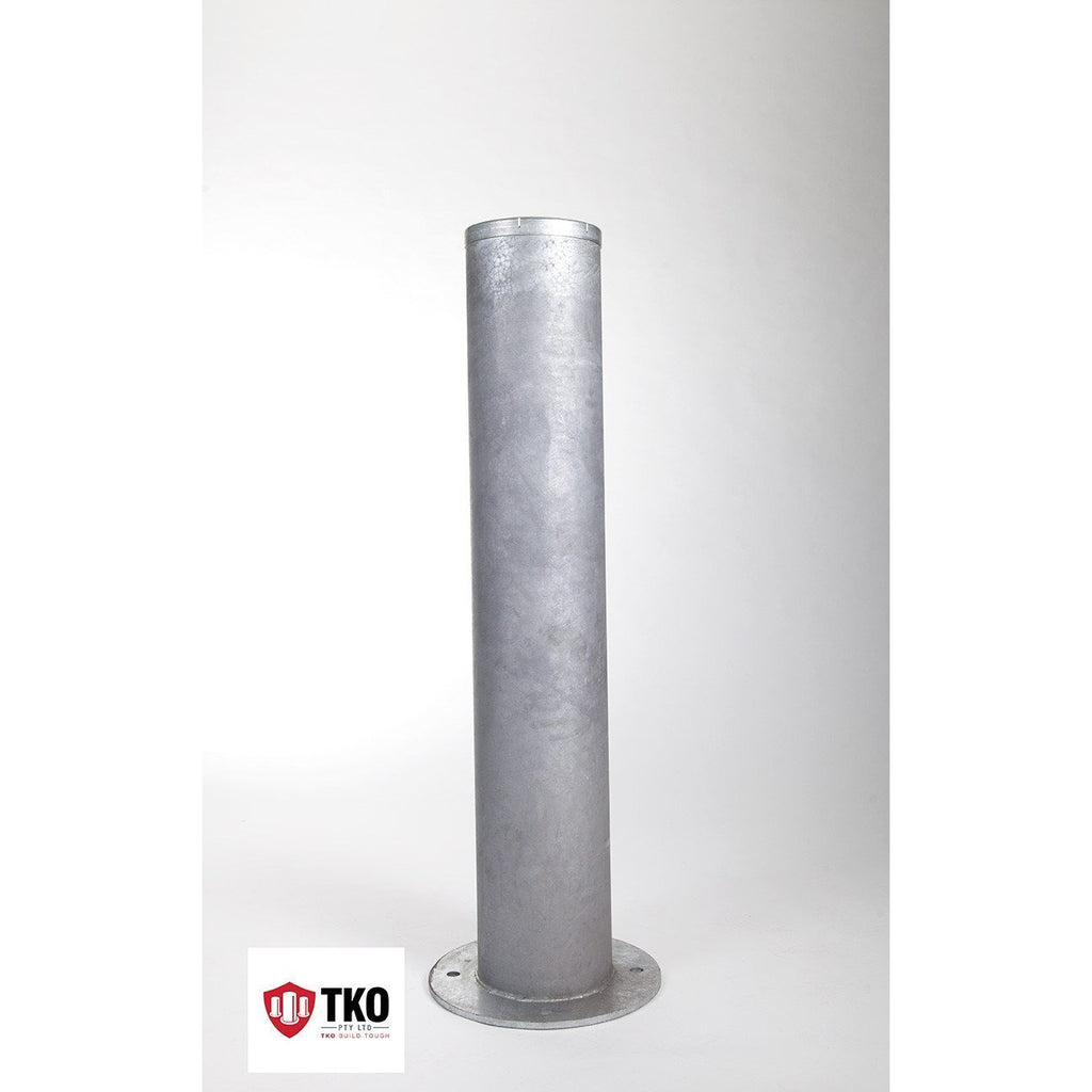 220 OD/MM Galvanized Surface Mounted Bollard - Brisbane bollards