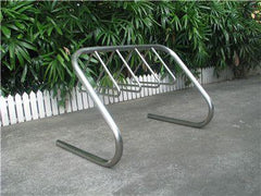 4 Station Stainless Steel Bike Rack Triangle Holder - Brisbane bollards