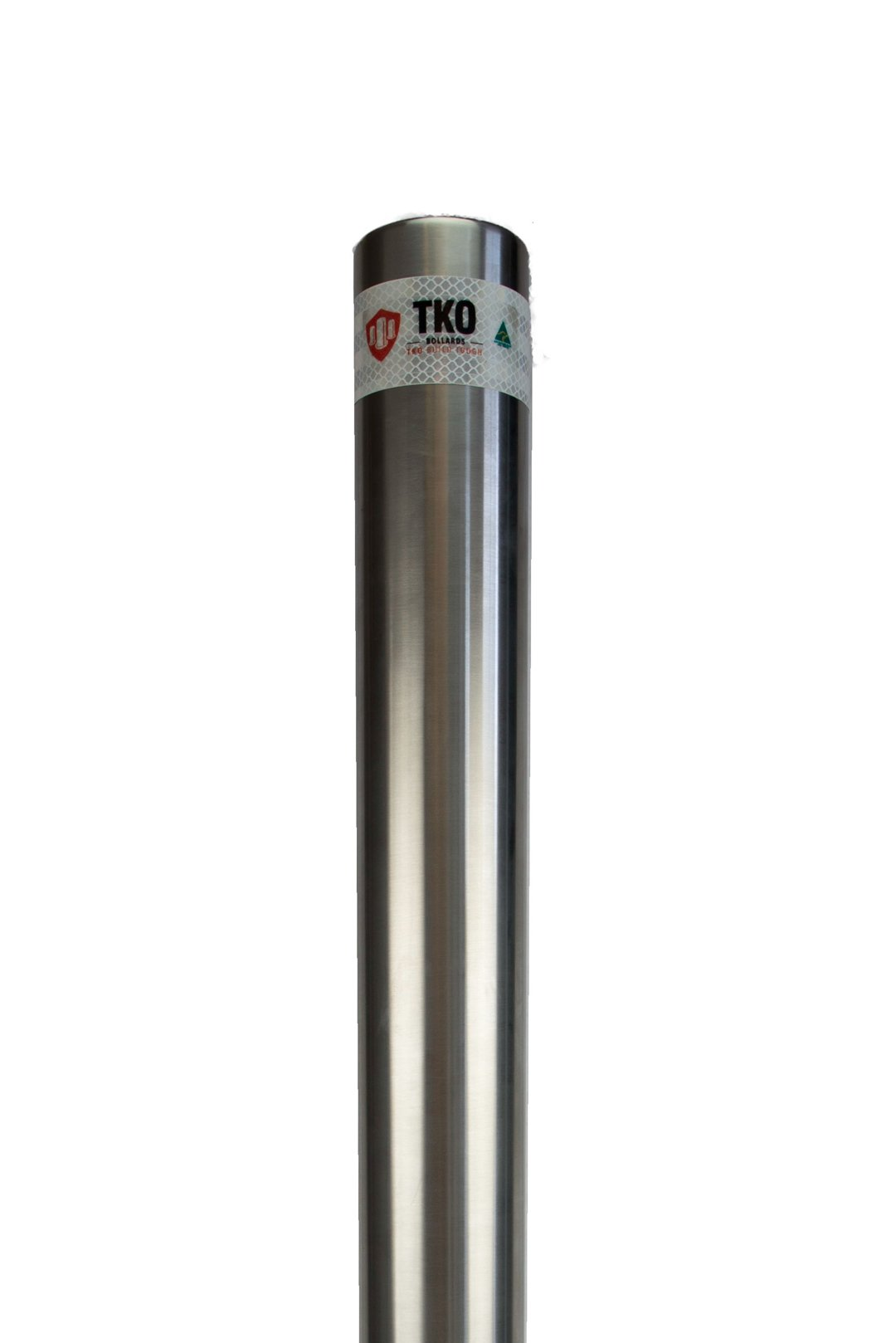 90 OD In-Ground Stainless Steel Bollard - Brisbane bollards