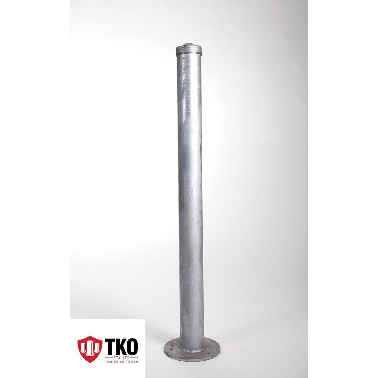 90 OD/MM Surface Mounted - Galvanised Bollard - Brisbane bollards