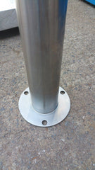 90 OD/MM 1200mm Surface Mounted Stainless Steel Bollard - Brisbane bollards