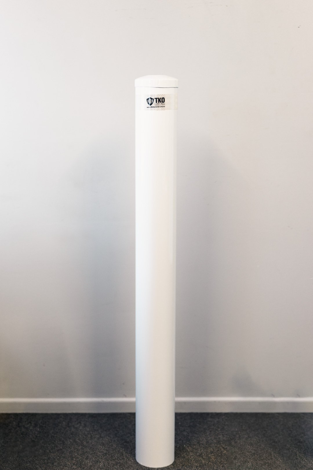 165 OD/mm In-Ground - White Powder Coated Bollard - 1350mm High - Brisbane bollards