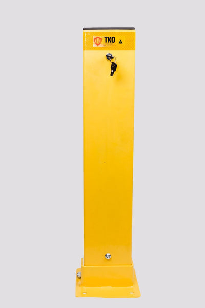 Collapsible Key Locked Powder Coated 150 x 50 Bollard - Brisbane bollards