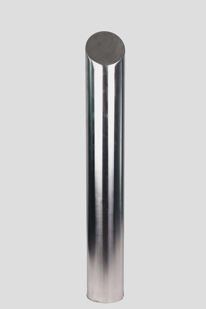 165 OD/MM Mitred Top - In-Ground - Stainless Steel Bollard - Brisbane bollards