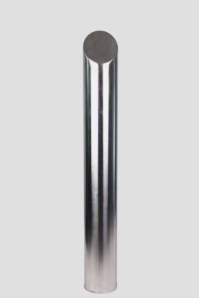 90 OD/MM Mitred Top - In-Ground - Stainless Steel Bollard - Brisbane bollards