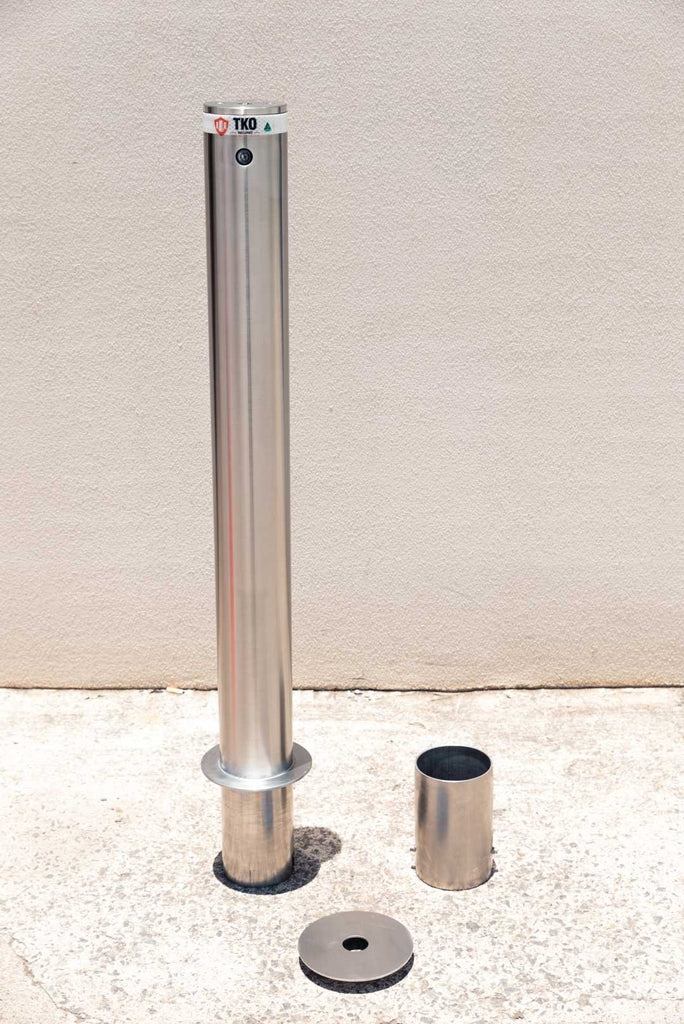 114 OD/MM Stainless Steel In-Ground Removable Bollard - Brisbane bollards