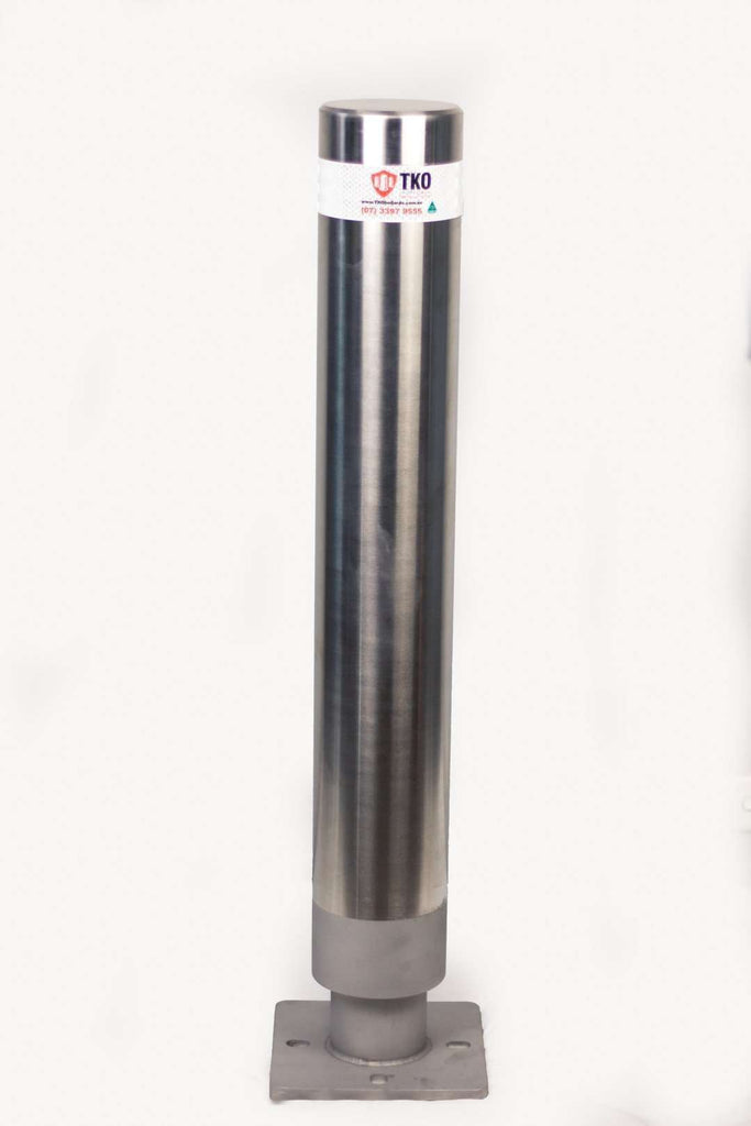 BSD-7095 140 OD/MM Brisbane City Stainless Steel Fixed Bolt Down Surface Mounted Bollard - Brisbane bollards