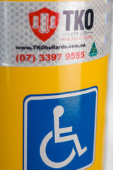 165 OD/MM 1.3M Disabled Car Park - Surface Mounted Bollard - Brisbane bollards