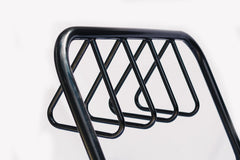 4 Station Black Powder Coated Bike Rack Triangle Holder - Brisbane bollards