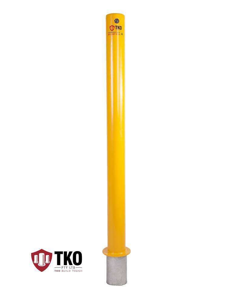 90 OD/MM In-Ground Powder Coated Removable Bollard - Brisbane bollards