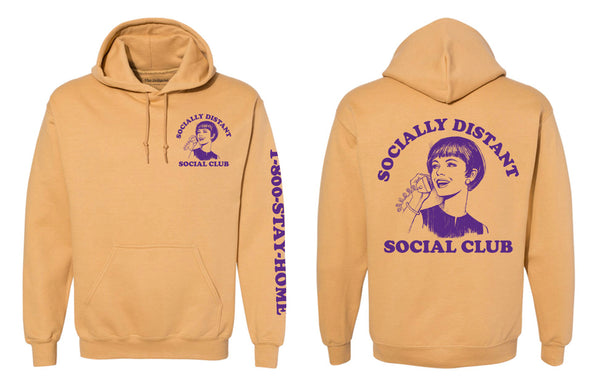 SOCIALLY DISTANT HOODIE (supports NAACP Legal Defense and Educational Fund)