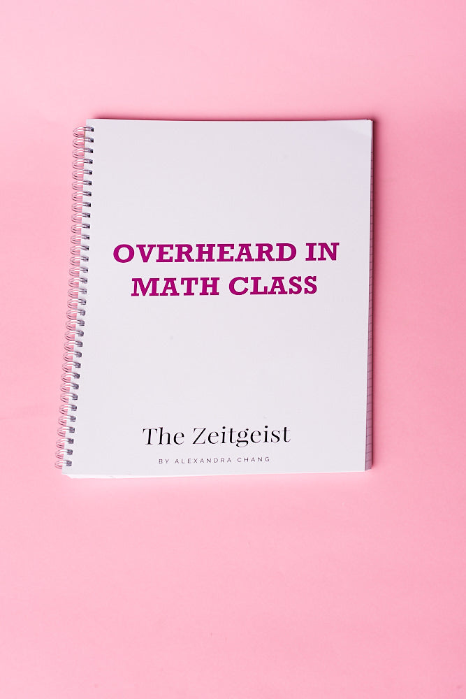 """OVERHEARD IN MATH CLASS"" NOTEBOOK"
