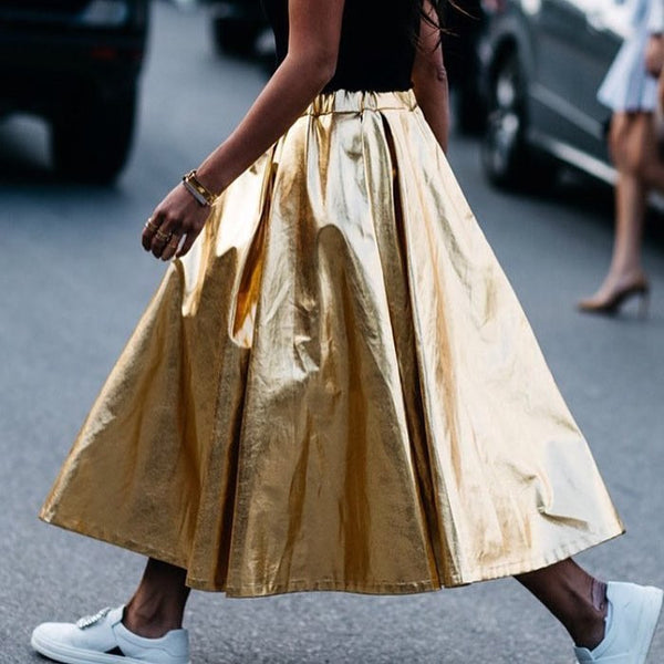 Love our new gold skirt