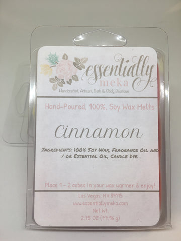 Cinnamon Wax Melt, Wax Melt, Essentially Meka Bath & Body Boutique