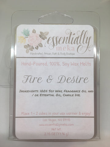 Fire & Desire Wax Melt, Wax Melt, Essentially Meka Bath & Body Boutique