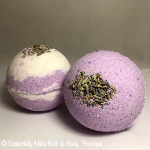 Lavender & Chamomile Bath Bomb, Bath Bomb, Essentially Meka Bath & Body Boutique