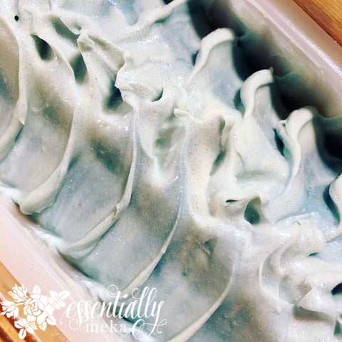 Misty Blue Soap Bar, Artisan Soap, Essentially Meka Bath & Body Boutique