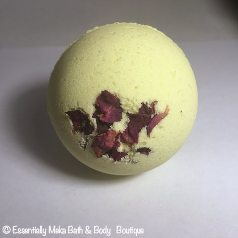 Mary Rose Lemmon Bath Bomb, Bath Bomb, Essentially Meka Bath & Body Boutique