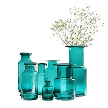 Decorative Modern Gl Vases - Blue – Fernweh Jewelry on teal boxes, teal lanterns, teal candles, teal floral, teal decorative canisters, teal office decor, tall ceramic vases, teal cabinets, teal home decor, teal leaves, teal decorative candlesticks, teal glassware, teal paintings, teal decorative accessories, teal books, teal wedding, teal decorative containers, teal decorative accents, teal jewelry, teal garden decor,