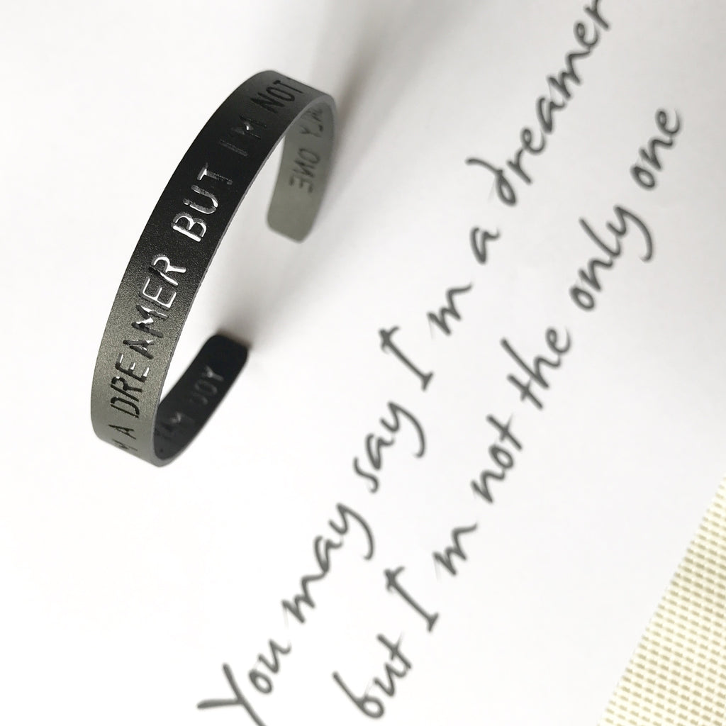 Life Quote Inspirational Quote Love Quote Personalized Bracelet