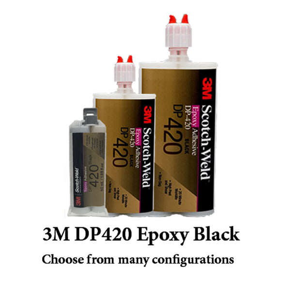 3M ScotchWeld DP420 Black 20-Minute Toughened Epoxy Adhesive