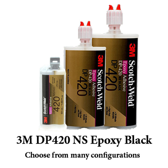 3M ScotchWeld DP420 NS (NonSag) Black 20-Minute Toughened Epoxy Adhesive