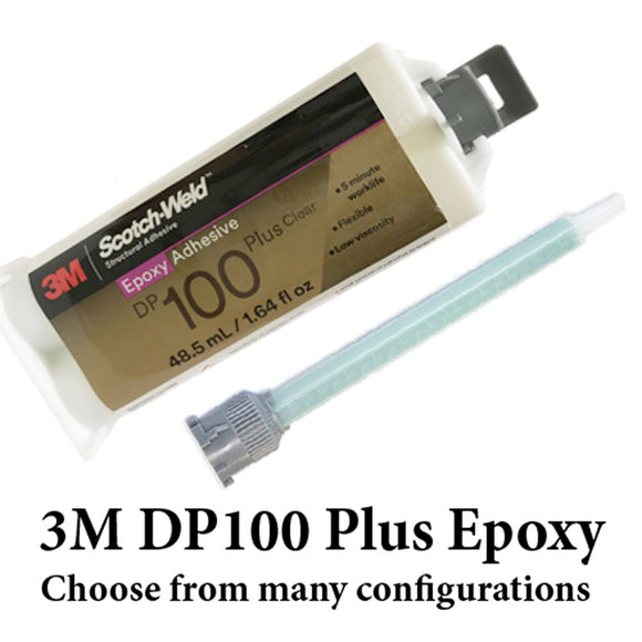 3M Scotch-Weld DP100 Plus Clear - 4 Minute Flexible Fast Set Epoxy