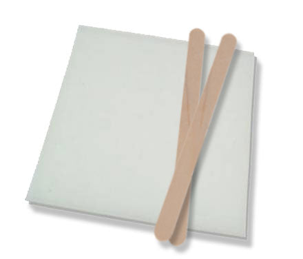Adhesive Mixing Kit - Mixing Sticks and Re-Usable Mixing Sheets (3x5-inch size)