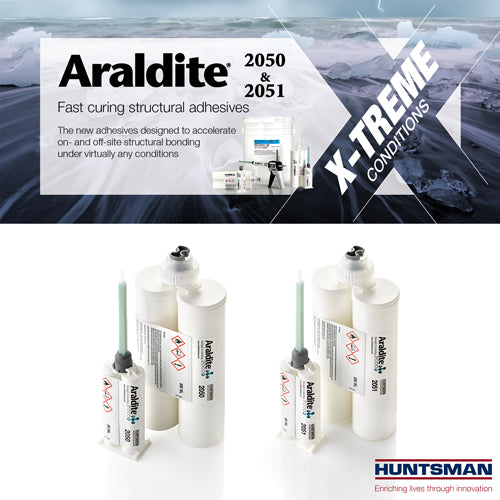 Araldite 2050 & 2051 : Two MMA Formulas for Extreme Conditions -  2-6 Minute, Cold, Wet, Underwater Setting, Extreme Heat & Cold