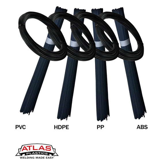 Variety Packs - Plastic Welding Rods & Coils - Black (PVC HDPE PP ABS)