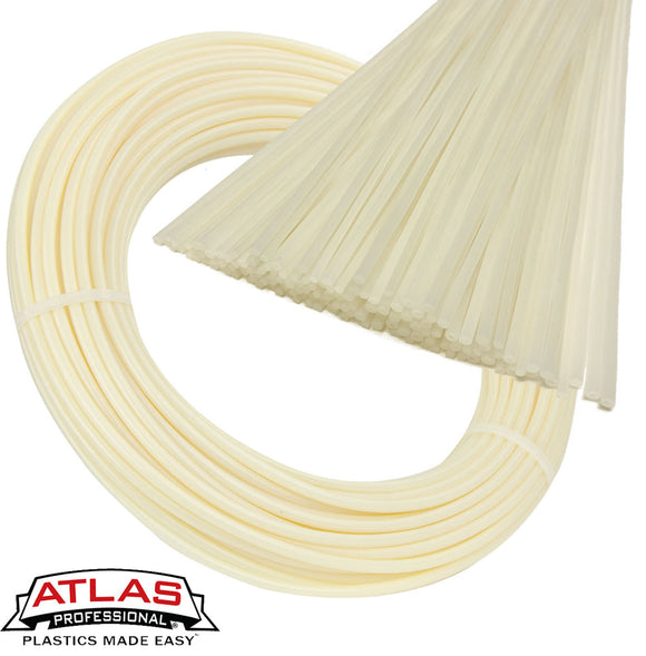 Atlas Plastics - HDPE Plastic Welding Rods & Coils - Natural (Off-White)