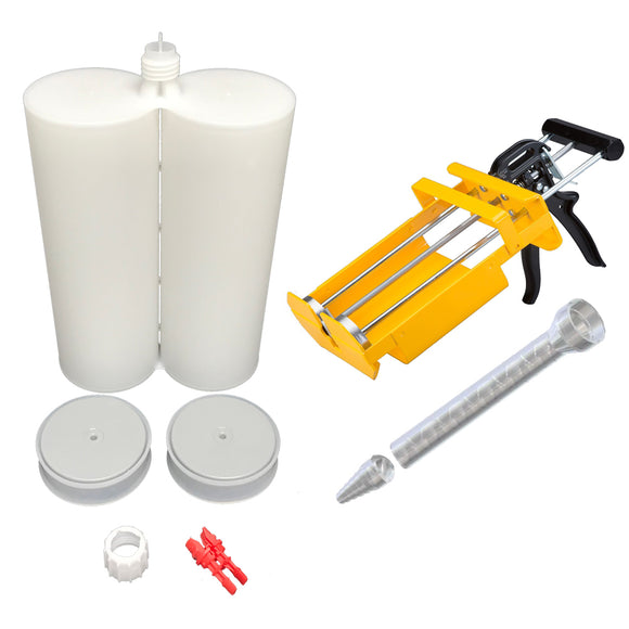 Atlas Pro 1500ml Empty 2-Part 1:1 ratio Cartridge Kit with Pistons, Dispenser & Nozzles