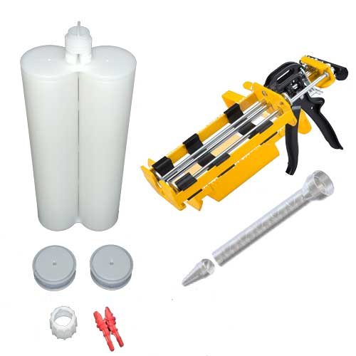 600ml Empty 1:1 ratio 2-Part Cartridge Kit with Dispenser & Nozzles